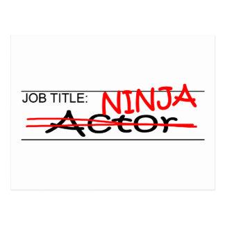 Job Title Ninja Actor Postcard