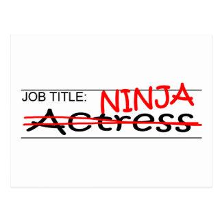 Job Title Ninja Actress Postcard