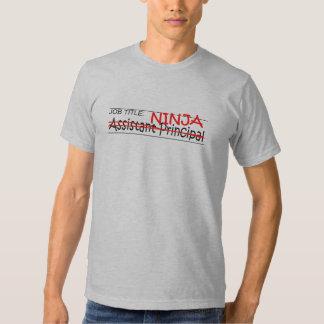 Job Title Ninja Asst Principal Tee Shirt