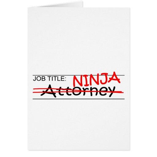 Job Title Ninja Attorney Card