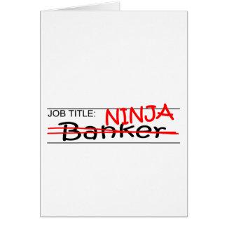 Job Title Ninja Banker Cards