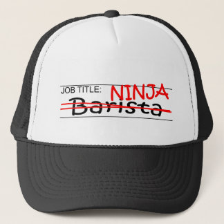 Job Title Ninja Barista Trucker Hat