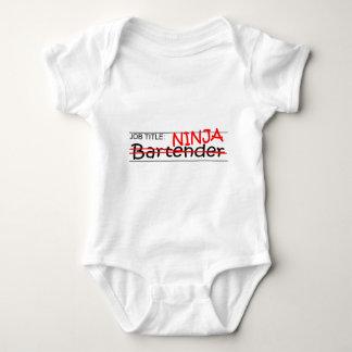 Job Title Ninja Bartender Baby Bodysuit