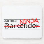 Job Title Ninja Bartender Mouse Pad