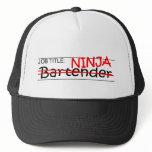 Job Title Ninja Bartender Trucker Hat