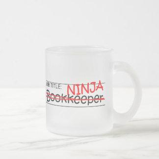 Job Title Ninja Bookkeeper 10 Oz Frosted Glass Coffee Mug
