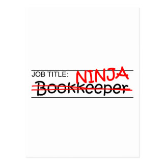 Job Title Ninja Bookkeeper Postcard