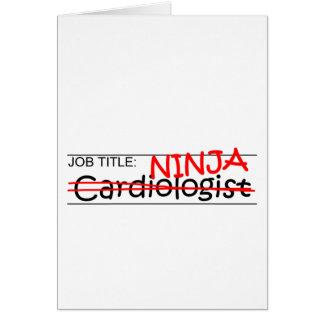 Job Title Ninja Cardiologist Card