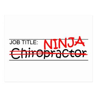 Job Title Ninja - Chiro Postcard