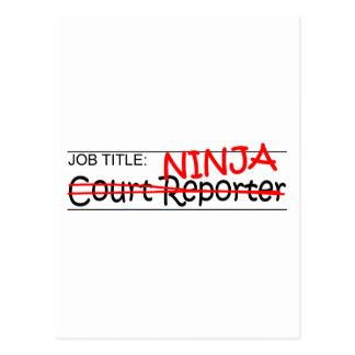 Job Title Ninja Court Reporter Postcard