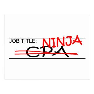 Job Title Ninja CPA Postcard