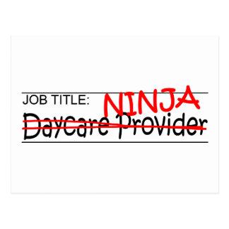 Job Title Ninja Daycare Postcard