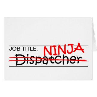 Job Title Ninja - Dispatcher Card