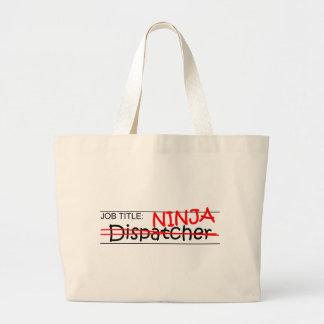 Job Title Ninja - Dispatcher Large Tote Bag