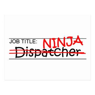 Job Title Ninja - Dispatcher Postcard