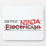 Job Title Ninja - Electrician Mouse Pad