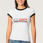 Job Title Ninja - Electrician T-Shirt