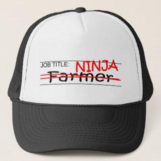 Job Title Ninja - Farmer Trucker Hat