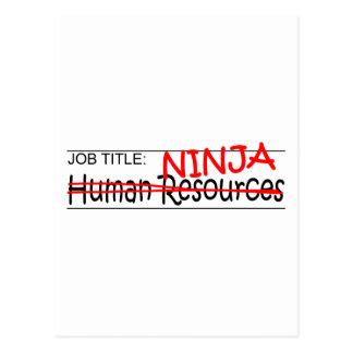 Job Title Ninja - HR Postcard
