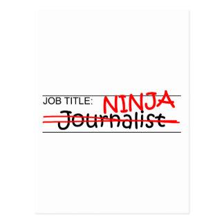 Job Title Ninja - Journalist Postcard