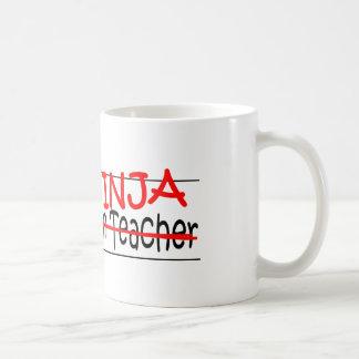 Job Title Ninja - Kindergarten Tchr Classic White Coffee Mug