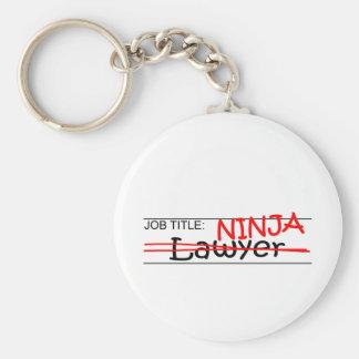 Job Title Ninja - Lawyer Basic Round Button Keychain