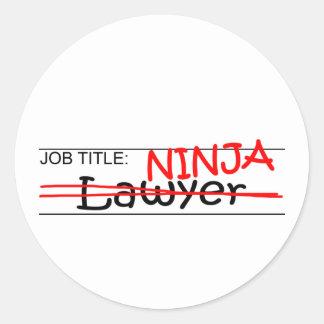 Job Title Ninja - Lawyer Classic Round Sticker
