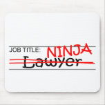 Job Title Ninja - Lawyer Mouse Pad