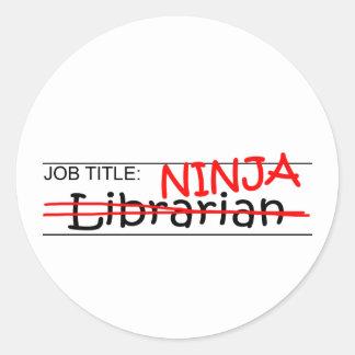 Job Title Ninja - Librarian Stickers