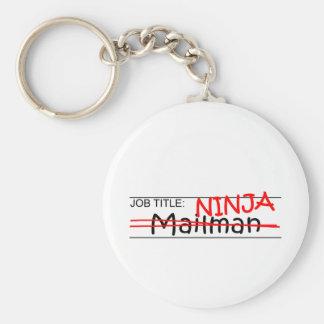 Job Title Ninja - Mailman Basic Round Button Keychain