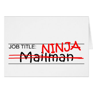 Job Title Ninja - Mailman Greeting Card