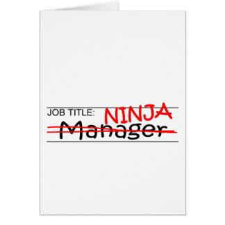 Job Title Ninja - Manager Card