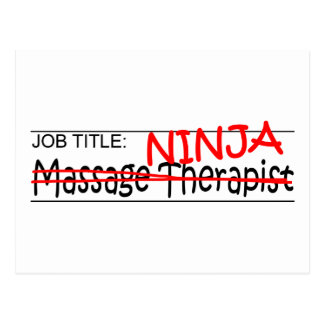 Job Title Ninja - Massage Therapist Postcard