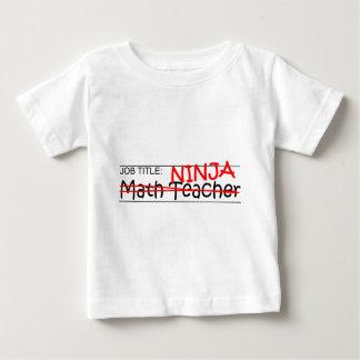 Job Title Ninja - Math Teacher Infant T-shirt