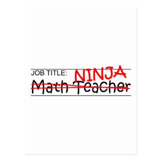 Job Title Ninja - Math Teacher Postcard