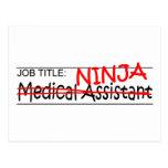 Job Title Ninja - Med Asst Postcard