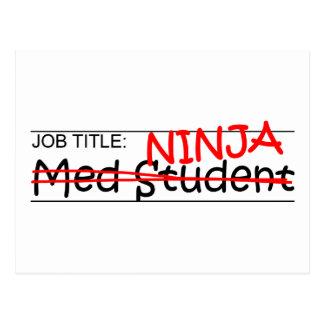 Job Title Ninja - Med Student Postcard