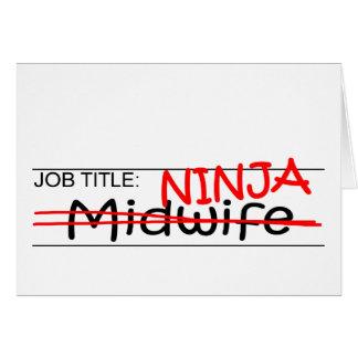 Job Title Ninja - Midwife Card