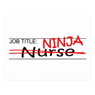 Job Title Ninja - Nurse Post Cards