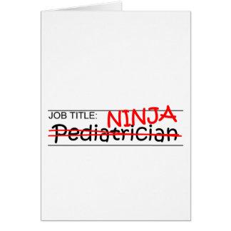 Job Title Ninja - Pediatrician Card