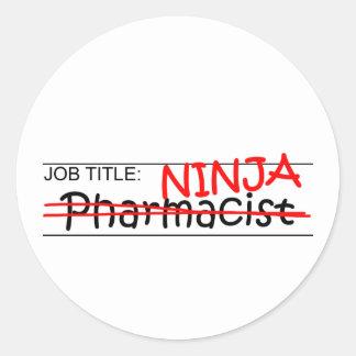 Job Title Ninja - Pharmacist Classic Round Sticker