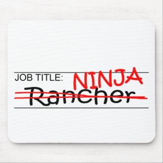 Job Title Ninja - Rancher Mouse Pad