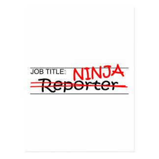 Job Title Ninja - Reporter Postcard