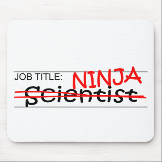Job Title Ninja - Scientist Mouse Pad
