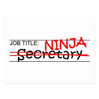 Job Title Ninja - Secretary Postcard