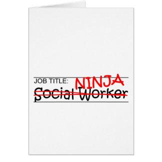 Job Title Ninja - Social Worker Card