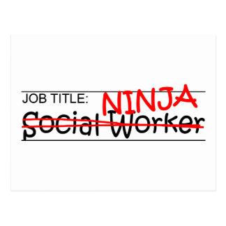 Job Title Ninja - Social Worker Postcard