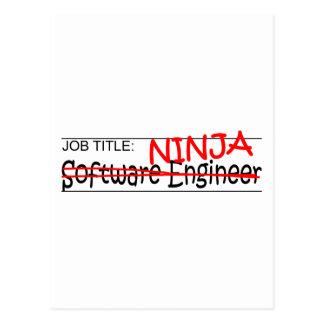 Job Title Ninja - Software Engineer Postcard
