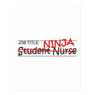 Job Title Ninja - Student Nurse Postcard