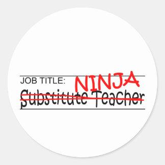 Job Title Ninja - Sub Classic Round Sticker